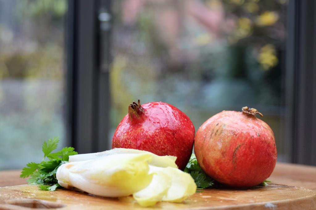 Chicoree Granatapfel Koriander