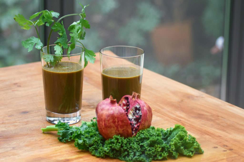 Saft Grünkohl Granatapfel Koriander