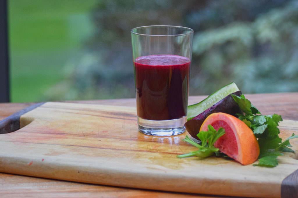 Zutaten rote Beete Gurke Grapefruit