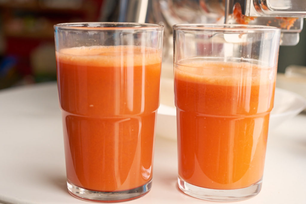 Saftausbeute Karottensaft