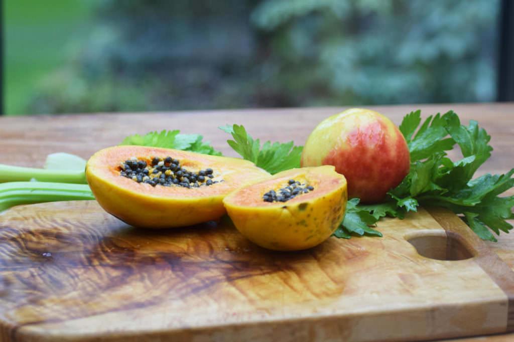 Zutaten Papaya Staudensellerie Apfel