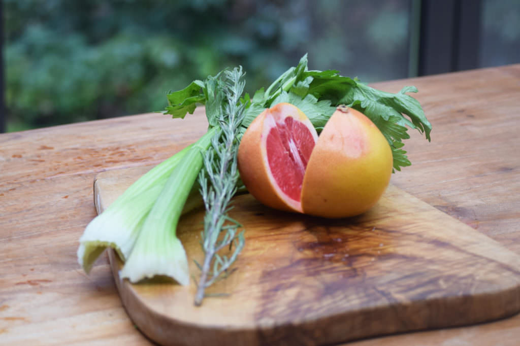 Zutaten Staudensellerie Grapefruit